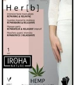 Iroha Nature -   Hand & Nail Glove Mask Herb Cannabis, 2x8gr